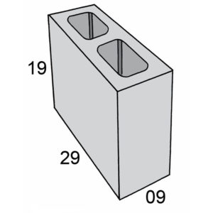 Blocos de concreto - Bloco 09-19-29 - Inova Concreto