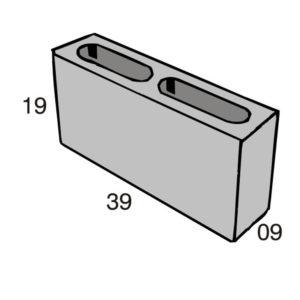 Blocos de concreto - Bloco 09-19-39 - Inova Concreto