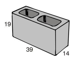 Blocos de concreto - Bloco 14-19-39 - Inova Concreto