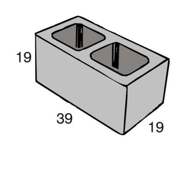 Blocos de concreto - Bloco 19-19-39 - Inova Concreto
