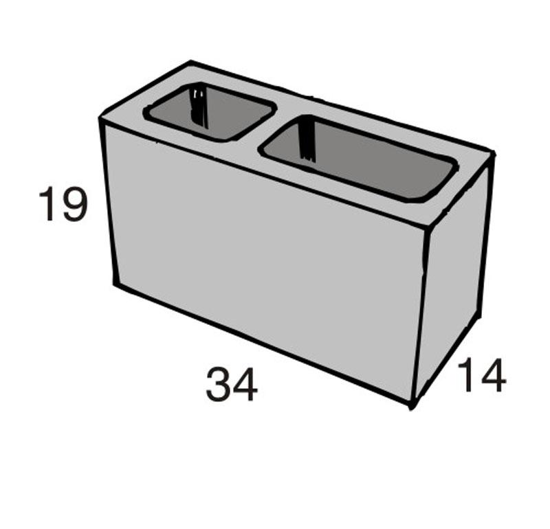 Blocos de concreto - Amarração 14-19-39 - Inova Concreto