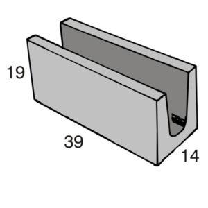 Blocos de concreto - Canaleta 14-19-39 - Inova Concreto