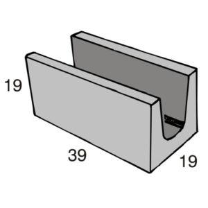 Blocos de concreto - Canaleta 19-19-39 - Inova Concreto