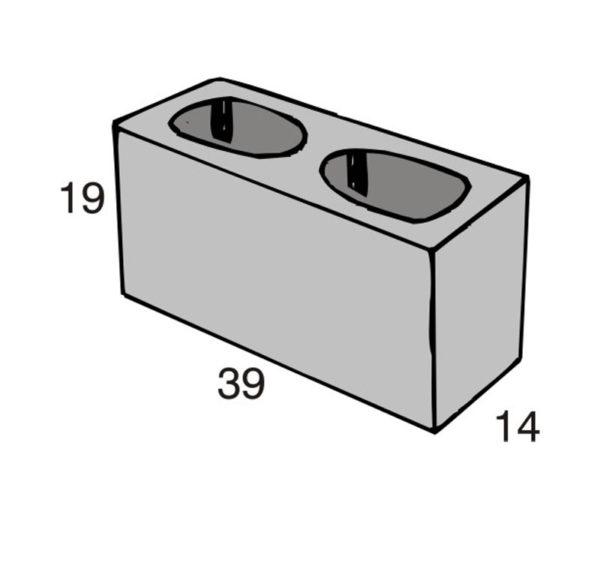 Blocos de concreto - Bloco Estrutural 14-19-39 - Inova Concreto