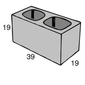 Blocos de concreto - Bloco Estrutural 19-19-39 - Inova Concreto