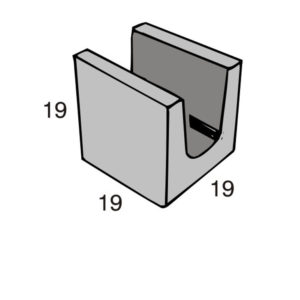 Blocos de concreto - Meia Canaleta 19-19-19 - Inova Concreto