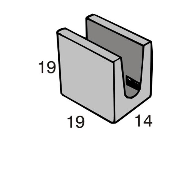 Blocos de concreto - Meia Canaleta 14-19-19 - Inova Concreto