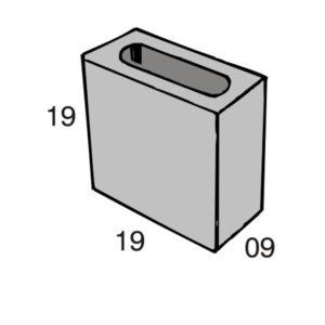 Blocos de concreto - Meio Bloco 09-19-19 - Inova Concreto