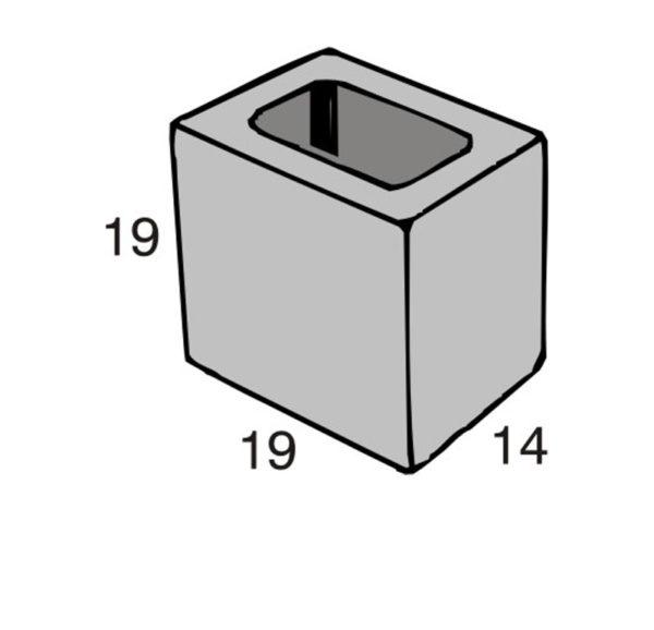 Blocos de concreto - Meio Bloco 14-19-19 - Inova Concreto