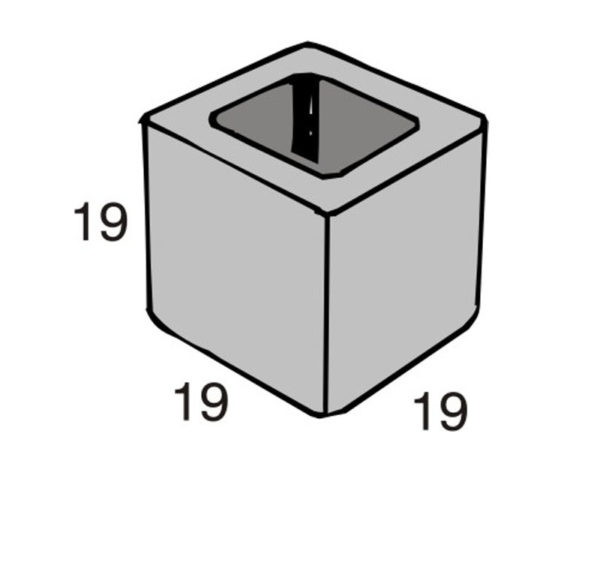 Blocos de concreto - Meio Bloco 19-19-19 - Inova Concreto