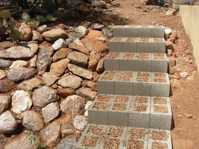 Escada Bloco de Concreto