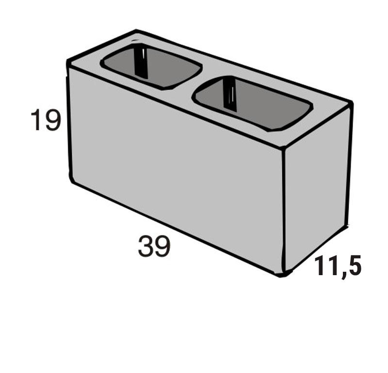 Blocos de concreto - Bloco 11,5-19-39 - Inova Concreto