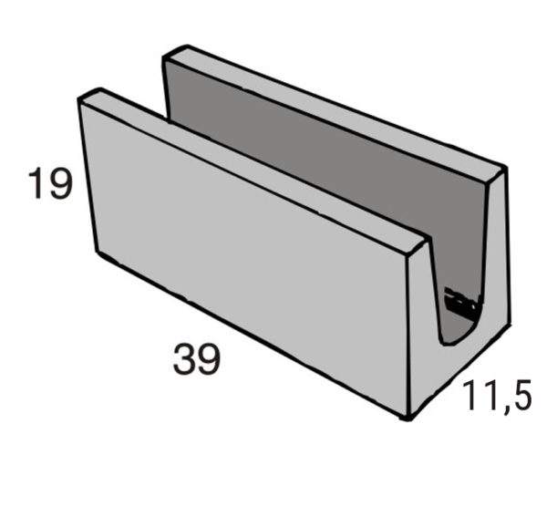 Blocos de concreto - Canaleta 11,5-19-39 - Inova Concreto