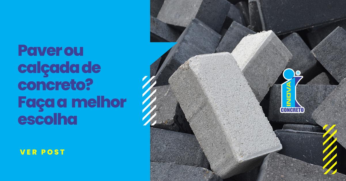 Paver ou calçada de concreto